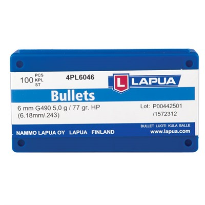 Lapua Hollow Point Bullets - 6mm (0.243