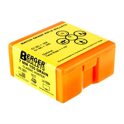 Berger Bullets Classic Hunter Bullets 7mm 150gr Hpbt