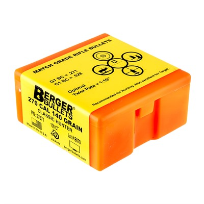 Berger Bullets Classic Hunter Bullets 270 Caliber 140gr Hpbt