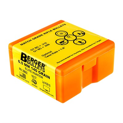Berger Bullets Elite Hunter Bullets 6.5mm 140gr Hpbt