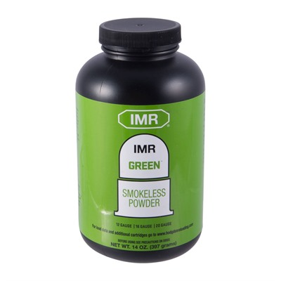 Imr Powders Green Smokeless Shotshell Powder - 14 Oz. Green Smokeless Powder
