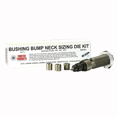 Forster Bushing Bump Neck Die Kits - 6mm Ppc Bushing Bump Neck Die Kit
