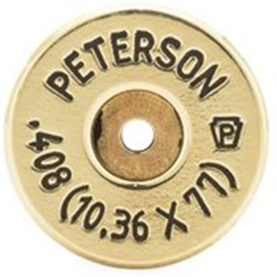 Peterson Cartridge 408 Cheytac (10.36x77mm) Brass - 408 Cheytac (10.36x77mm) Brass 50/Box