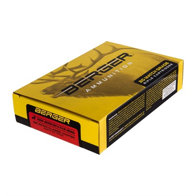 Berger Bullets Match Grade Hunting 300 Winchester Magnum Ammo - 300 Winchester Magnum 185gr Hybrid Boat Tail 20/Box