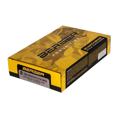 Berger Bullets Match Grade Target 300 Winchester Magnum Ammo 300 Winchester Magnum 215gr Hybrid Boat Tail 20 Box