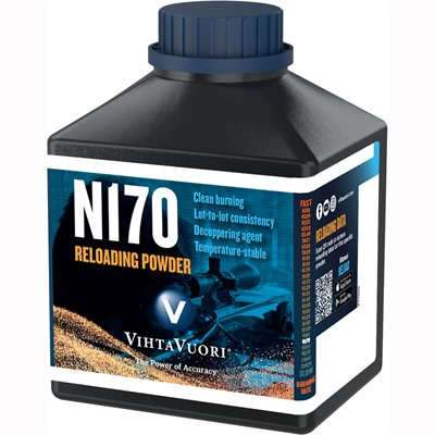 Vihtavuori N170 Smokeless Rifle Powder - N170 Smokeless Powder 1 Lb