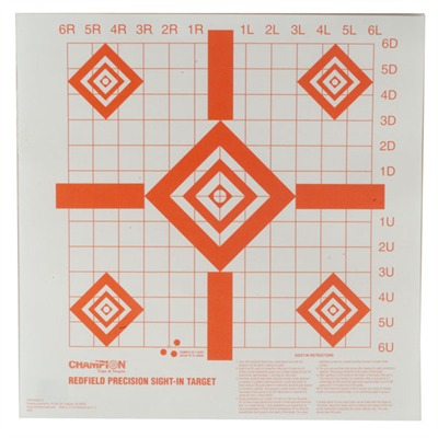 Champion Targets Sight-In Target - Precision Sight-In Targets, 100/Pack
