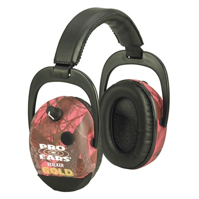 Stalker Gold Headsets Stalker Gold Nrr25 Rt Pink Camo : Shooting Accessories by Pro Ears for Gun & Rifle