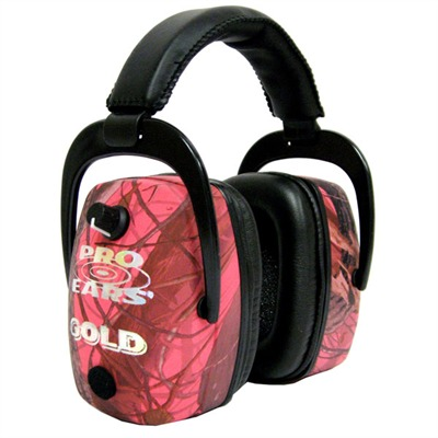 Pro Ears Gold Headsets - Pro Mag Gold Nrr 30 Pink Realtree Camo