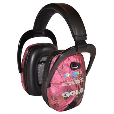 Pro Slim Gold Headsets - Pro Slim Gold Nrr 28 Pink Realtree Camo