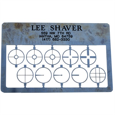 Lee Shaver Rifle Post & Aperture Card - Rifle Post & Aperture Card Blue