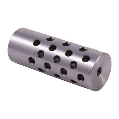 Shrewd #4 Muzzle Brake 22 Caliber - #4 Muzzle Brake 22 Caliber 9/16-24 Chrome Moly Silver