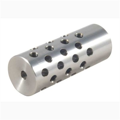 Shrewd #4 Muzzle Brake 22 Caliber - #4 Muzzle Brake 22 Caliber 5/8-24 Chrome Moly Silver