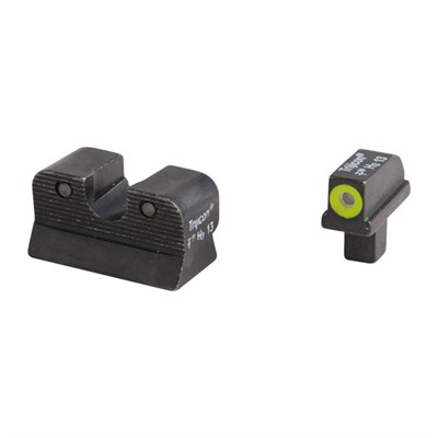 1911 Hd™ Tritium Night Sight Sets - 1911 Colt Cut Hd Night Sight Set Yellow Front Outline