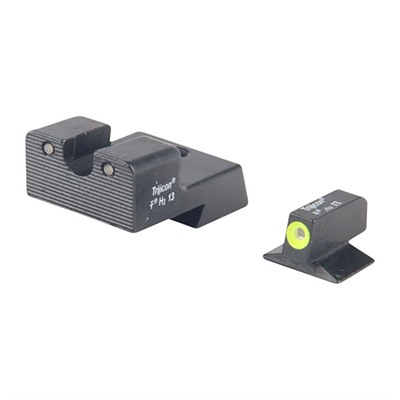 Trijicon 1911 Hd Tritium Night Sight Sets - 1911 Novak Cut Hd Night Sight Set Yellow Front Outline