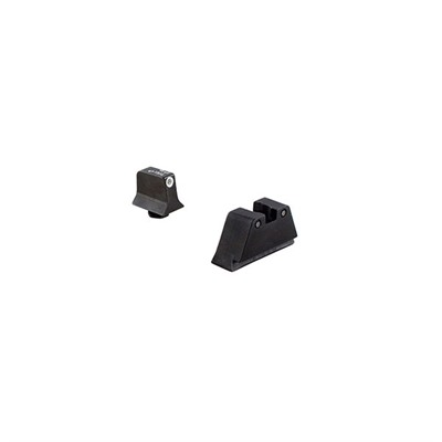 Trijicon Suppressor Tritium Night Sights For Glock - Night Sight Set White Outline Front, Black Outline Rear