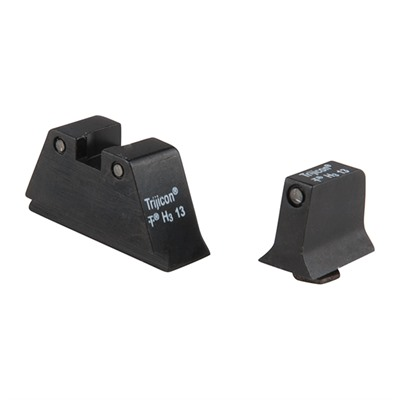 Trijicon Suppressor Tritium Night Sights For Glock - Night Sight Set Black Outline-Green Lamps