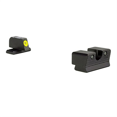 Trijicon Hd Xr Night Sights For Sig Sauer - Hd Xr Night Sight Set-Sig Sauer 9mm, 357 Sig Yellow Front