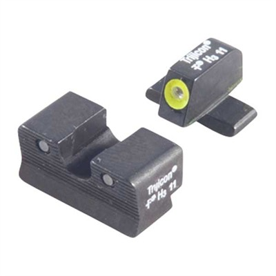 Trijicon Sig Sauer Hd Tritium Night Sight Sets - Sig 9mm & 357 Sig, Hd Night Sights, Yellow