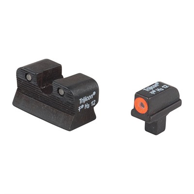Trijicon 1911 Hd Tritium Night Sight Sets - 1911 Colt Cut Hd Night Sight Set Orange Front Outline