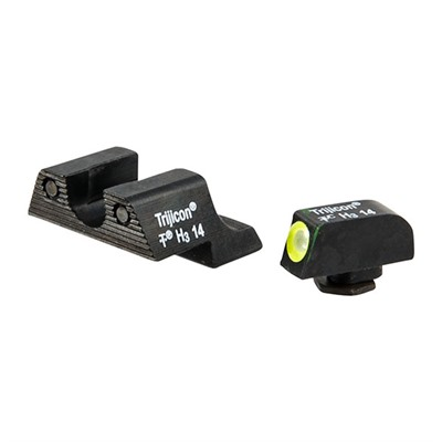 Trijicon Hd Tritium Night Sight Sets For Glock - Glock 42/43 Hd Night Sight Set, Yellow Front Outline