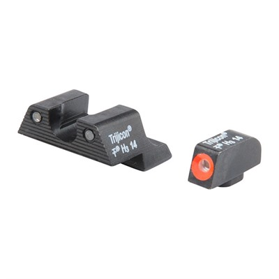 Trijicon Hd Tritium Night Sight Sets For Glock - Glock 42/43 Hd Night Sight Set, Orange Front Outline