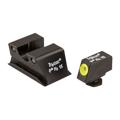Trijicon Walther Pps/Ppx Hd Night Sight Sets - Walther Pps/Ppx Hd Night Sight Set, Yellow Front