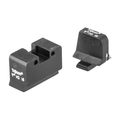 Trijicon Bright & Tough Suppressor Night Sights For Sig Sauer - Night Sight Set, White Front & Rear, Sig Sauer 9mm/357sig