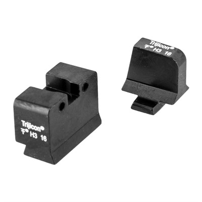 Trijicon Bright & Tough Suppressor Night Sights For Sig Sauer - Night Sight Set, White Front & Rear, Sig Sauer 40s&W/45acp
