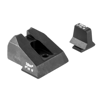 Trijicon Bright & Tough Suppressor Night Sights For Smith & Wesson - Night Sight Set, White Front & Rear, Smith & Wesson M&P