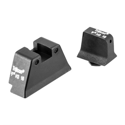 Trijicon Suppressor Tritium Night Sight For Large Frame Glock - Night Sight Set, Black Front & Rear, Large Frame Glock