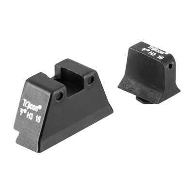 Trijicon Suppressor Tritium Night Sight For Large Frame Glock - Night Sight Set, White Front/Black Rear,Large Frame Glock
