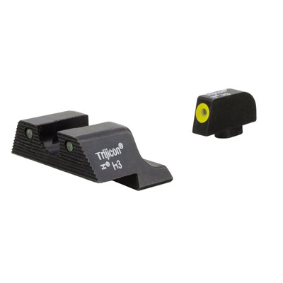 Trijicon Hd Xr Night Sights For Glock - Hd Xr Night Sight Set-Glock 17,19,22,26,32,37 Yellow Frnt