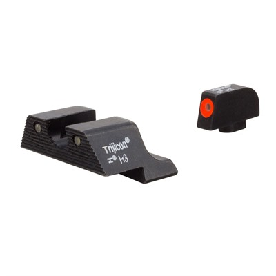Trijicon Hd Xr Night Sights For Glock - Hd Xr Night Sight Set-Glock 17,19,22,26,32,37 Orange Frnt