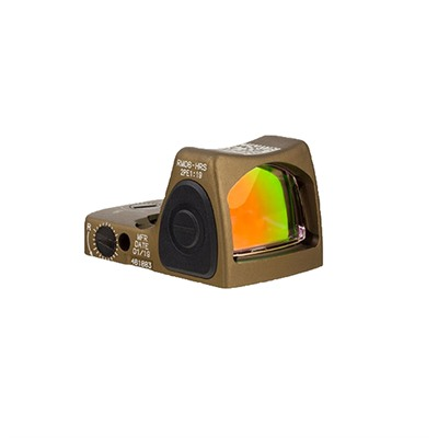 Trijicon Rmr Hrs Rm06 3.25 Moa Adjustable Led Reflex Sight - Rmr Hrs 3.25 Moa Adj. Red Dot Led Sight Black