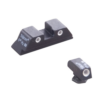 Tritium Handgun Sights Gl04 Glock 20 / 21 / 30 Trijicon Sight : Handgun Parts by Trijicon for Gun & Rifle