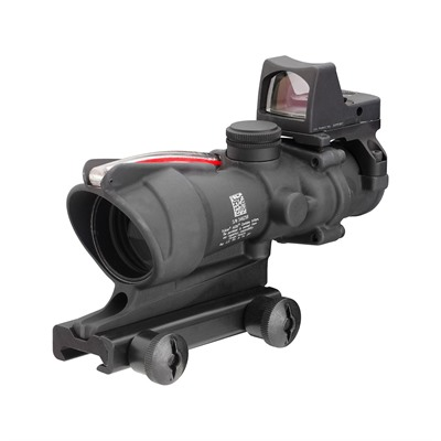 Trijicon Acog 4x32mm Scope Dual Illum Chevron Reticle With Rm01 Rmr - 4x32mm Red Chevron 223 Ballistic Rm01 Ta51 Mount