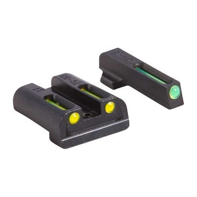 Truglo Sig Sauer Tritium Fiber Optic (Tfo) Sight Sets - T.F.O. Brite-Site Fits Sig .40/.45 Green/Yellow
