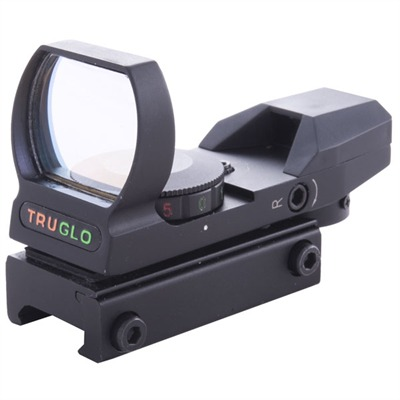Truglo Open Red Dot Sight Multiple Reticle/Dual Color Open Red Dot Sight USA & Canada