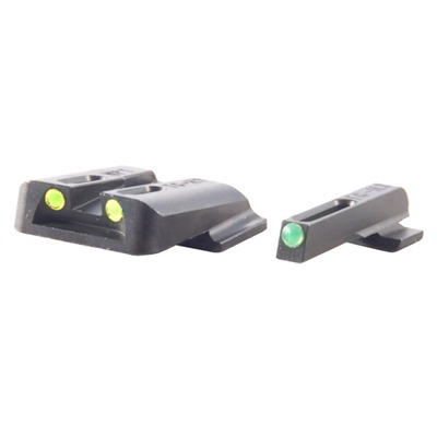Truglo S&W M&P Tritium Fiber Optic (Tfo) Sight Sets - T.F.O. Brite-Site Fits S&W M&P Green/Yellow