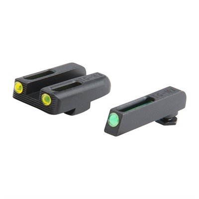 Truglo Tritium Fiber Optic (Tfo) Sight Sets For Glock - T.F.O. Glock 42/43 Sight Set, Green/Yellow
