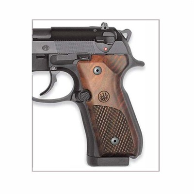 Beretta Usa Grips, 92 96 Wood Oval Chkrng