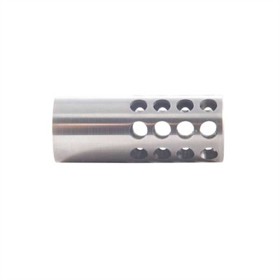 Muzzle Brake 338 Caliber - Muzzle Brake 338 Caliber  9/16-32 Stainless Steel Silver