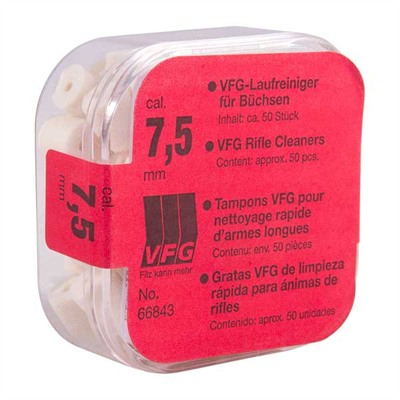 Vfg Weapons Care System Pellets - 30 Caliber-7.5mm Felt Pellets 50/Bag