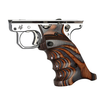 Volquartsen Ruger Mkiv Laminated Wood Grips - Ruger Mkiv Laminated Wood Grips, Rh, Brown & Gray