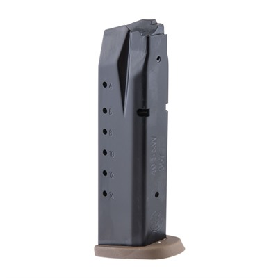Smith & Wesson M&P 357sig/40s&W Magazines - M&P 40s&W 15 Rd Black W/ Brown Base Plate