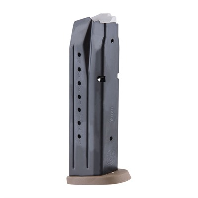 Smith & Wesson M&P 9mm Magazines - M&P 9mm 17 Rd Black W/ Brown Base Plate