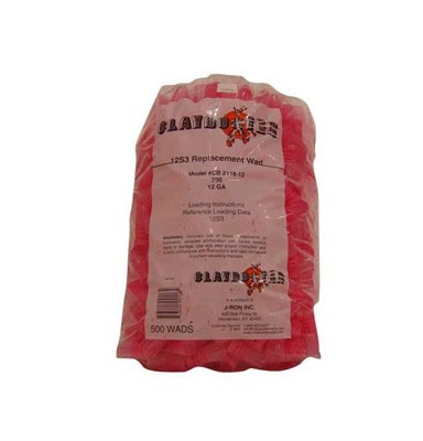J-Ron 12s3 12 Auge Claybuster Wad 1-1/8 To 1-1/4oz - 12 Gauge 1-1/8 To 1-1/4oz Wads Red 500/Bag