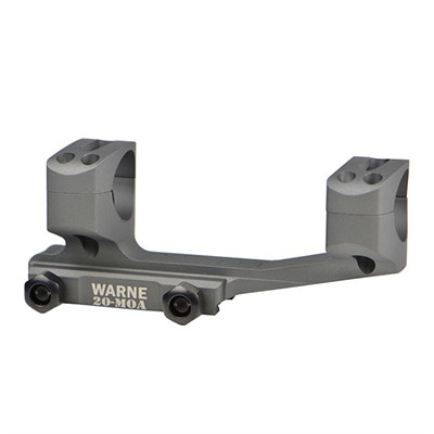 Warne Mfg Company Lr Skel Extended Skeletonized Msr Mounts 30mm X Skel Mount 20 Moa Tactical Gray