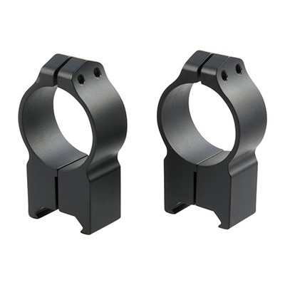 Warne Mfg. Company Maxima Fixed Rings - 30mm Extra High Fixed Rings Matte Black